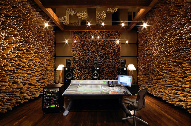 "The perfectly Acoustically-Balanced ""Studio C"" at Blackbird Studio, Nashville TN"